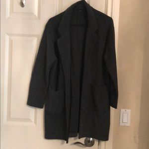 Zara cotton fleece mid-length dad-coat